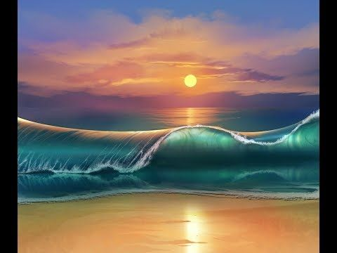 Full Hd Wallpapers Sunsets How To Paint A Tropical Beach Wave At Sunset Beginner