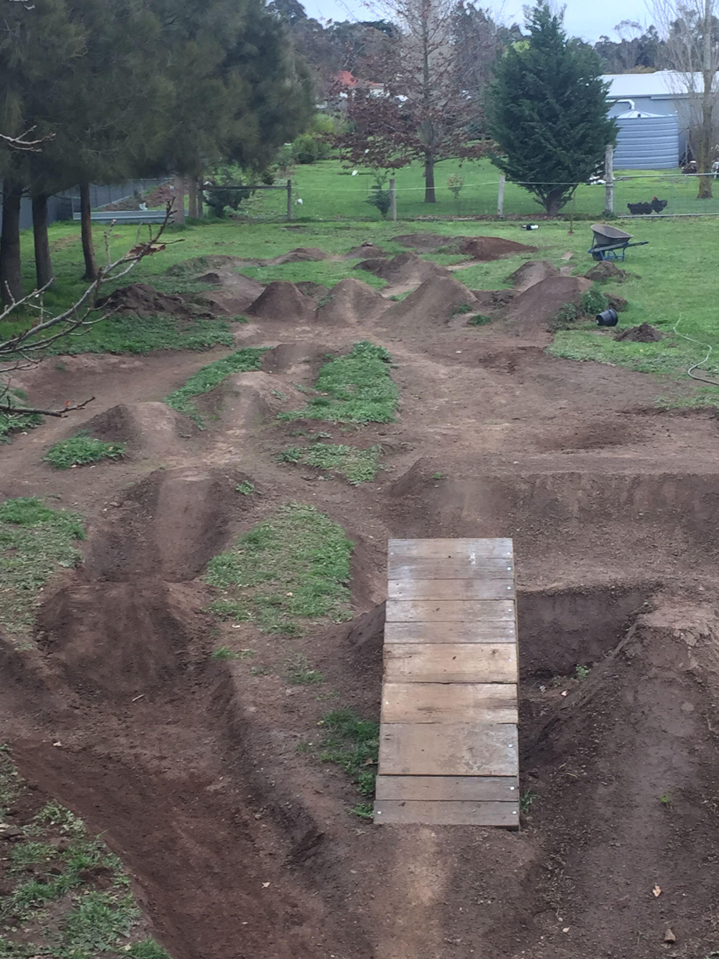 My Track At Home Coming Together Well In 2020 Dirt Bike Track Kids Bike Track Bmx Mountain Bike Mini backyard motocross track
