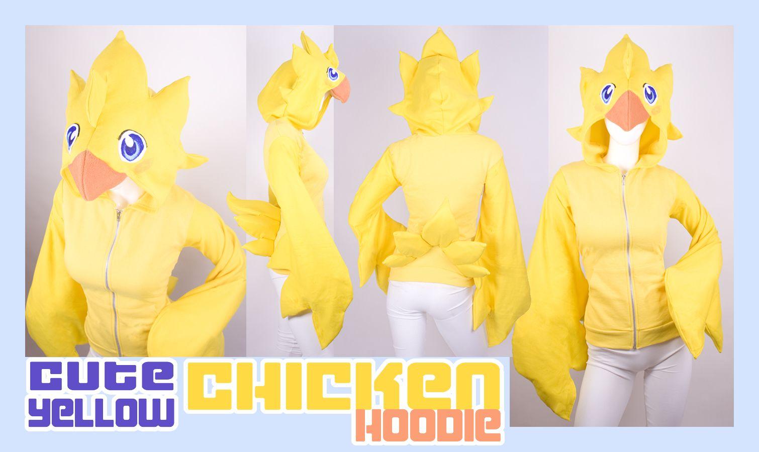 Cute Yellow Chicken Hoodie by *calgarycosplay on deviantART