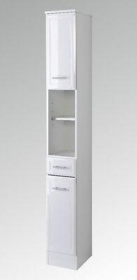 Good NEU Badezimmer Hochschrank NEAPEL Seitenschrank cm weiss