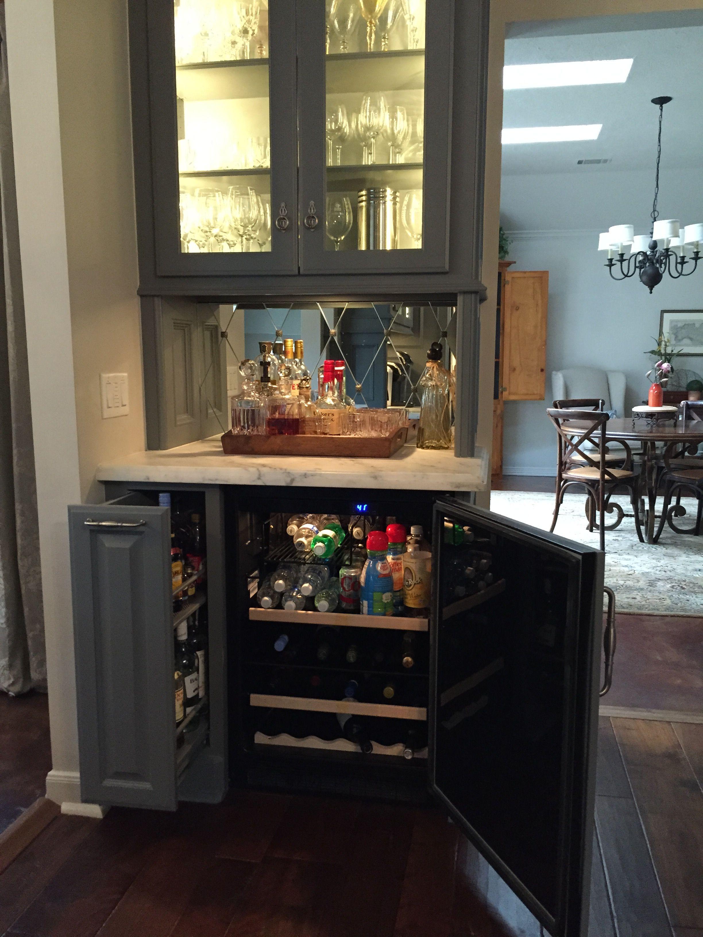 My Kitchen Liquor Pullout And Beverage Fridge