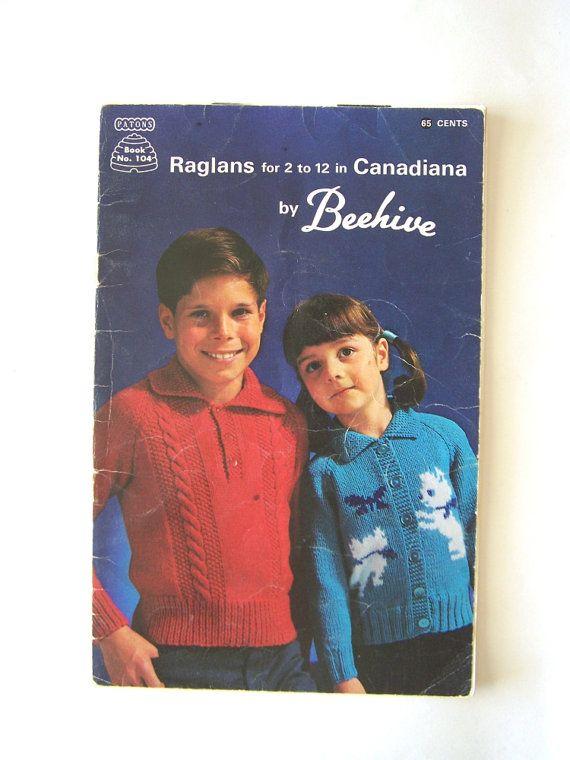 Vintage Knitting Patons Beehive 104 Raglans Children\'s Sweaters ...