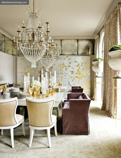 Lots of glitter in this Melanie Turner-designed dining room for the 2011 Atlanta Symphony Decorators' Show House.