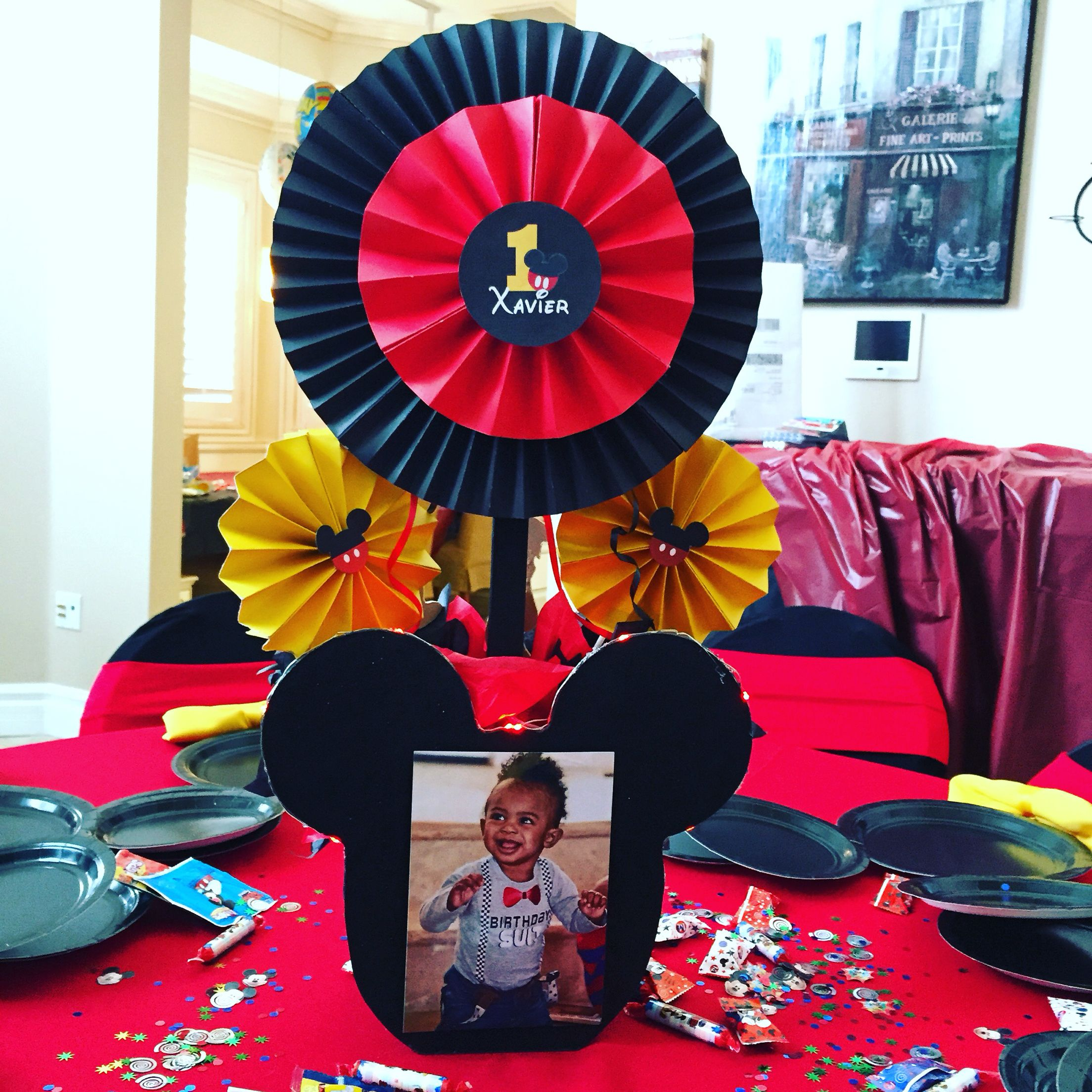 Mickey Mouse Centerpiece Mickey Mouse Theme Party Kids Party Candy Table Sweets Mickey Mouse Parties Mickey Mouse Theme Party Mickey Mouse Centerpiece