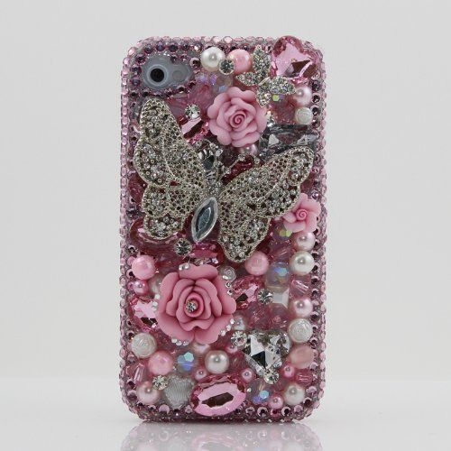 3D Swarovski Crystal Pink Butterfly Bling Case Cover for iphone 4 4S AT Verizon & Sprint by BlingAngels, http://www.amazon.com/dp/B005TASU9O/ref=cm_sw_r_pi_dp_C-1dsb0FGXCYC