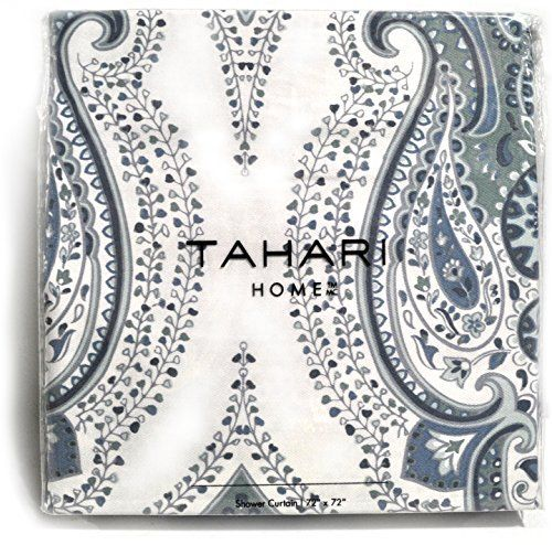 navy and grey shower curtain. Tahari Luxury Boho Style Moroccan Medallion Fabric Shower Curtain Aqua Navy  Blue White Gray Paisley 72