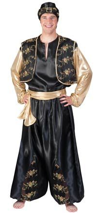 Adult Sheikh Sultan Costume Accessory Gold Giant Turban Aladdin