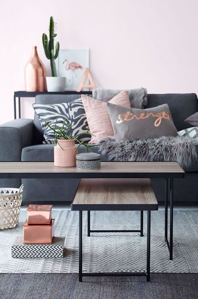 love this varying gray and pink combination for a daydreamy home rh pinterest com