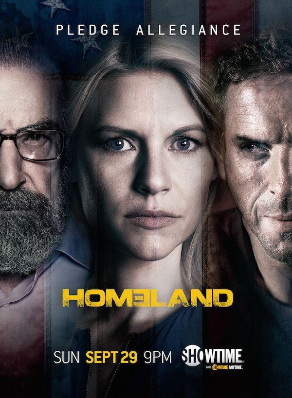 homeland season 3 poster urges viewers to pledge allegiance rh pinterest es