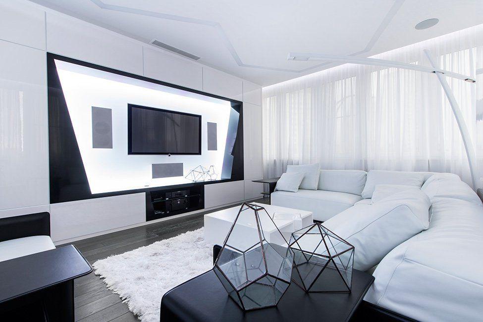 15 Black And White Living Room Ideas Minimalist Living Room Interior Design Living Room Futuristic Interior
