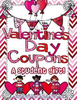 ValentineS Day Coupon Book Student Gift Editable  Students