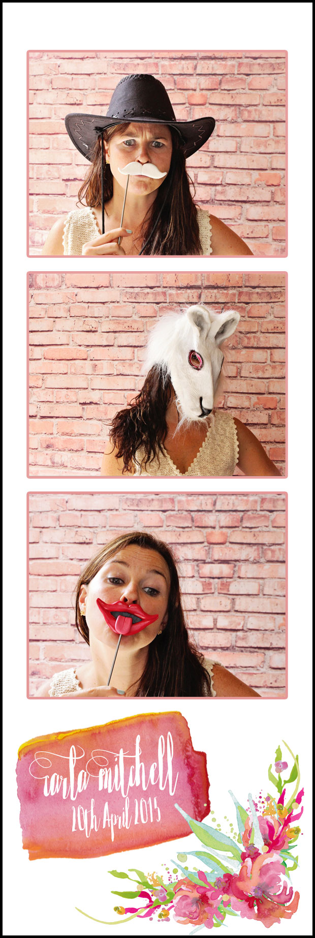 Photo booth strip template design customise Photo