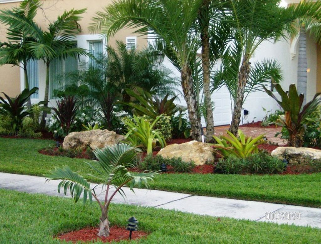 Backyard Palm Tree Landscape Design | Tropical landscaping ... on Palm Tree Backyard Ideas id=66767