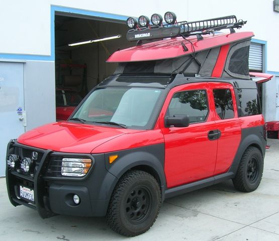 Beefcake Honda Element Offroad Ecamper Yes Please Honda Element Camping Honda Element Camper Honda Element
