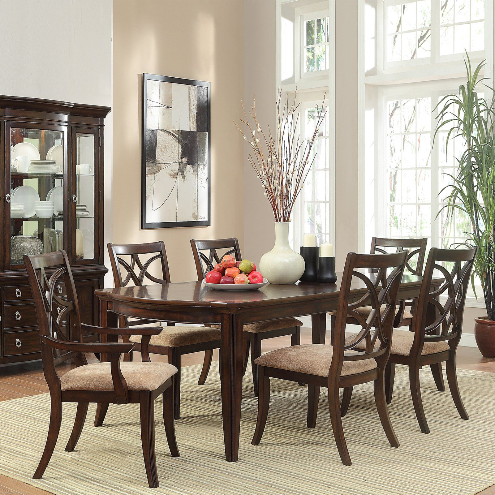 have to have it homelegance keegan 7 piece expandable dining table rh pinterest co uk