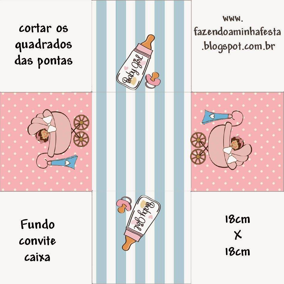 Cochecito Rosa de Bebé: Cajas para Imprimir Gratis. | Baby\'s ...