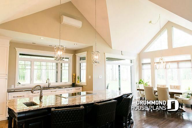 Kitchen Contemporary ranch house plan, large master suite ... on 1 bedroom loft house plans, fireplace house plans, 2 bedroom loft house plans, simple loft house plans, small loft house plans,