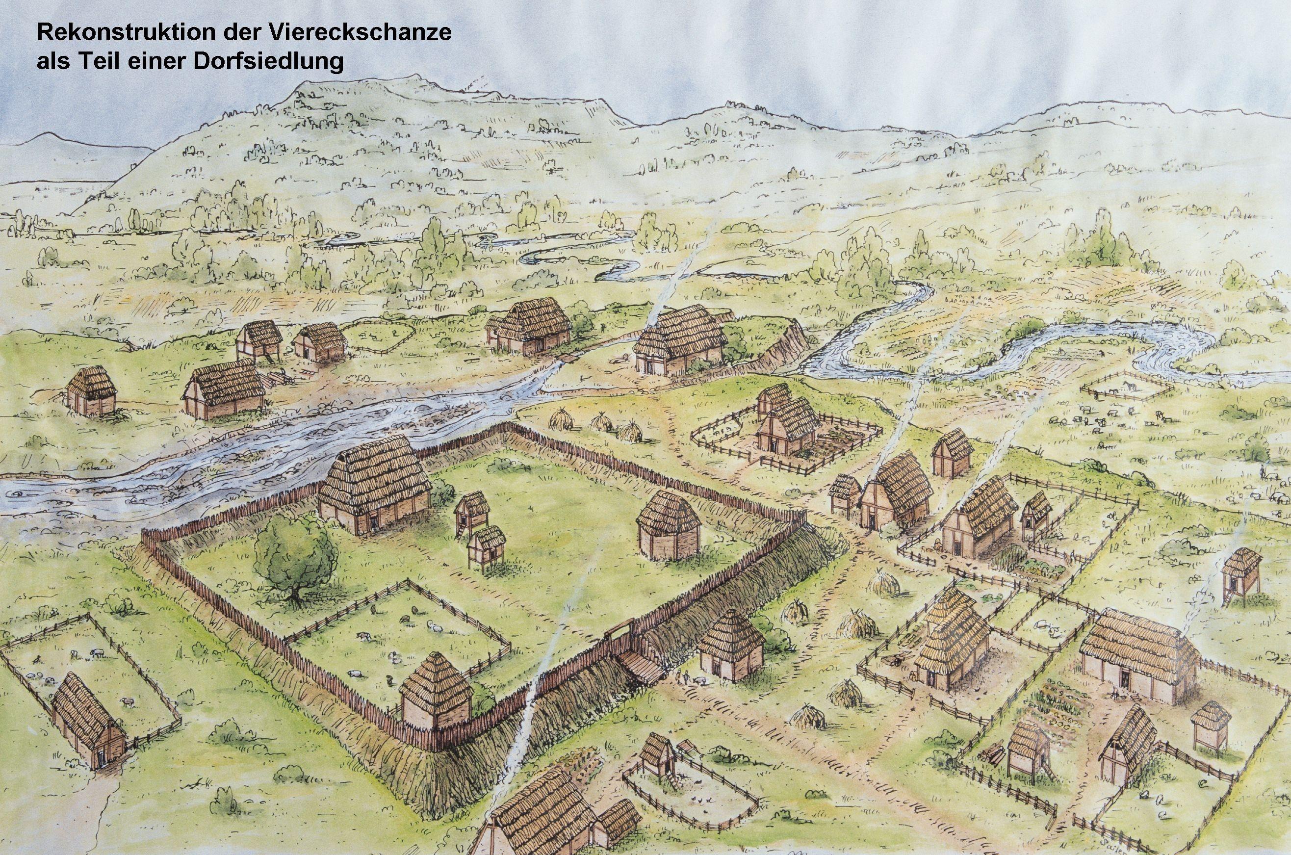 Viereckschanze in Bopfingen Flochberg eastern Baden Wrttemberg 2nd 1st