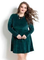 6e237bc2e3 Vestido (Verde) em Plush Quintess Plus Size
