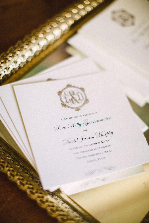 wedding reception invites%0A Timeless Austin Wedding at Chateau Bellevue