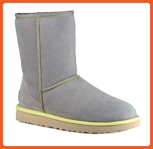 6378f2cf2df UGG Women's Classic Short II Neon Winter Boot, Pencil Lead, 7 B US ...