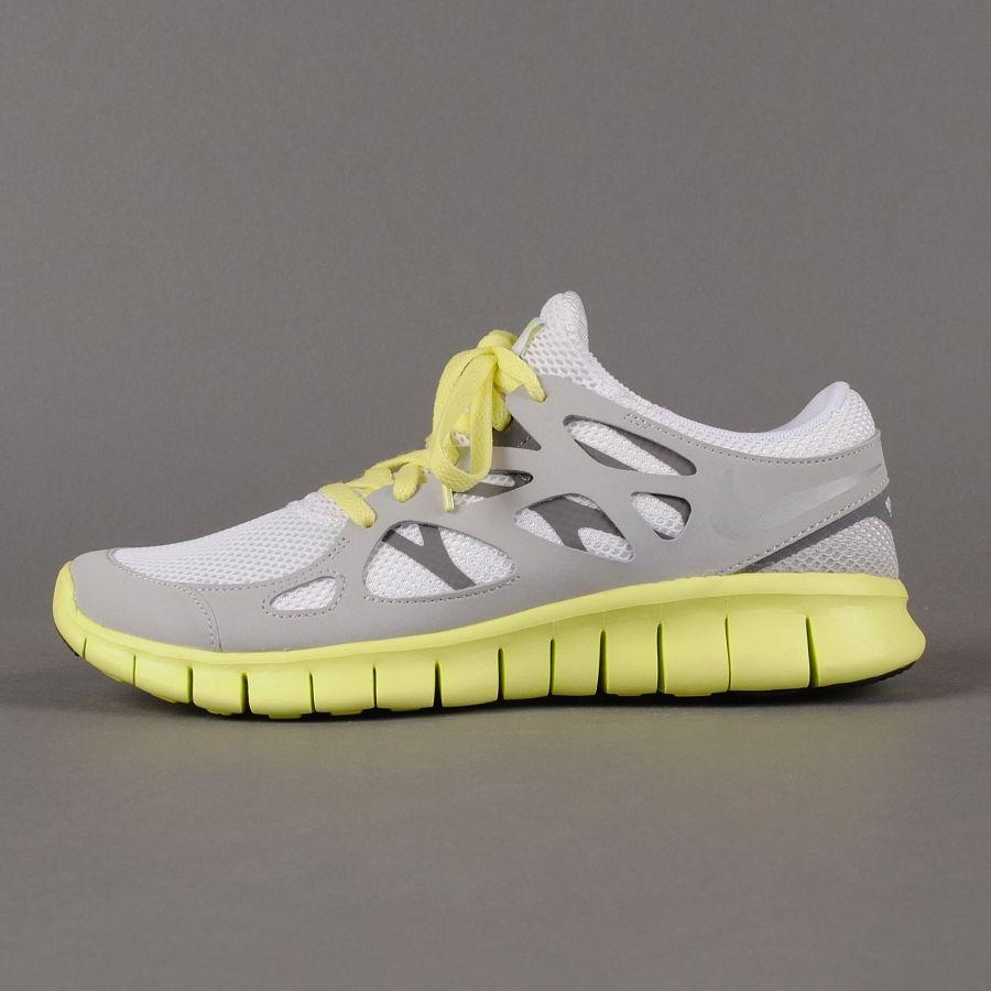 Sneaker Nike - WMNS Nike Free Run+ 2 EXT (weiss / metallic silver / grau)