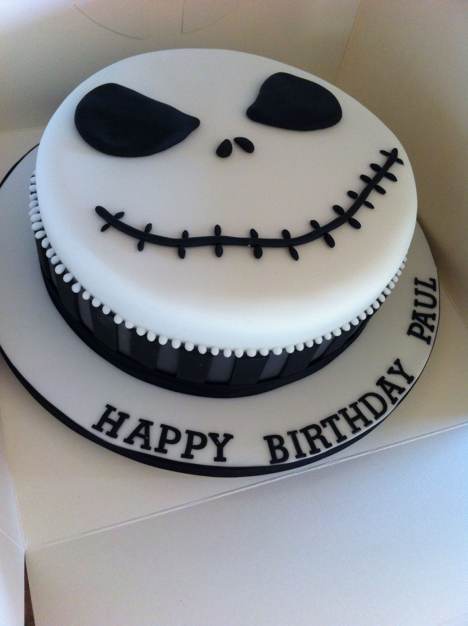 nightmare before christmas jack the pumpkin king birthday cake