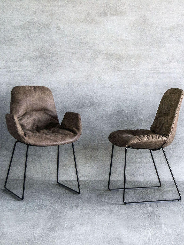 Tonon Step Leder Armchair Designer Stuhl Mit Armlehnen In Leder