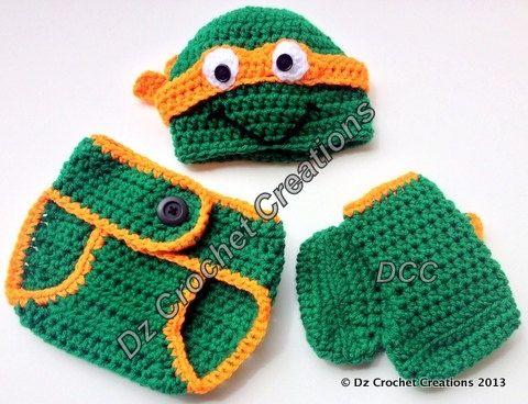 croshay free pattern | Crochet Ninja Turtle Photo Prop Diaper Cover ...