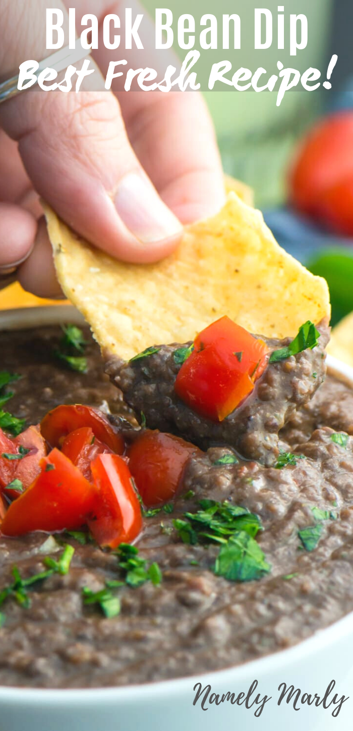 This Easy Black Bean Dip Recipe Is Made With Simple Healthy