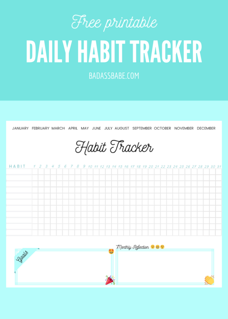 Free printable daily habit tracker! I love using a tangible