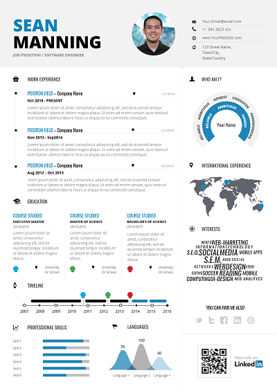 Upstart Infographic Resume Modern Resume Format Infographic Resume Template