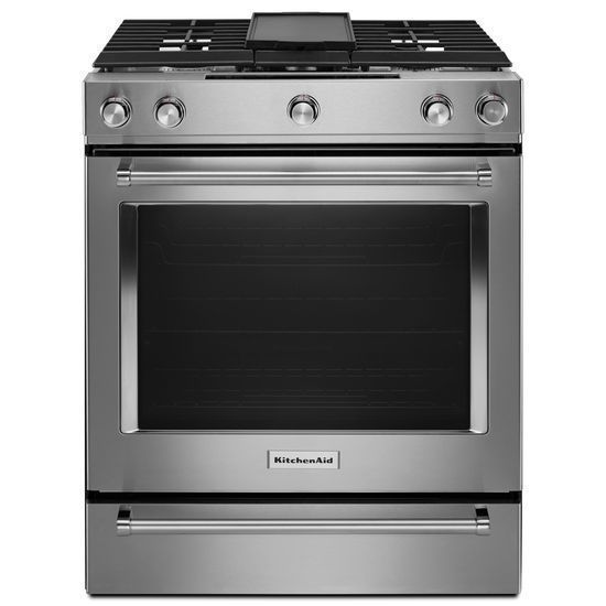 details about kitchenaid 30 stainless steel dual fuel slide in rh pinterest com