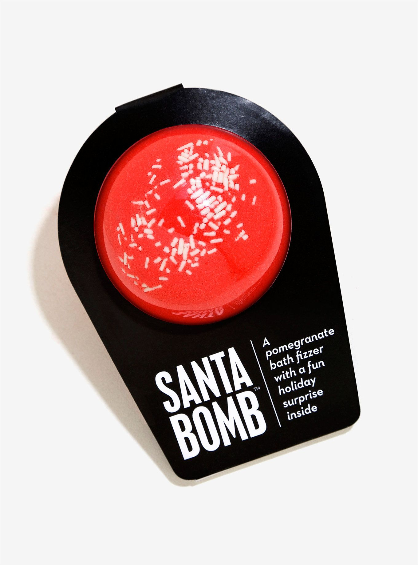 """<p>After all of the presents have been wrapped and the milk and cookies are laid out, it's time to unwind and treat yo' self. Relax in a nice hot bath and drop this pomegranate fizzer in the bath; it's got a special holiday surprise just for you in the center.</p><ul><li style=""""list-style-position: outside !important; list-style-type: disc !important;"""">6 oz.</li><li style=""""list-style-position: outside !i..."""