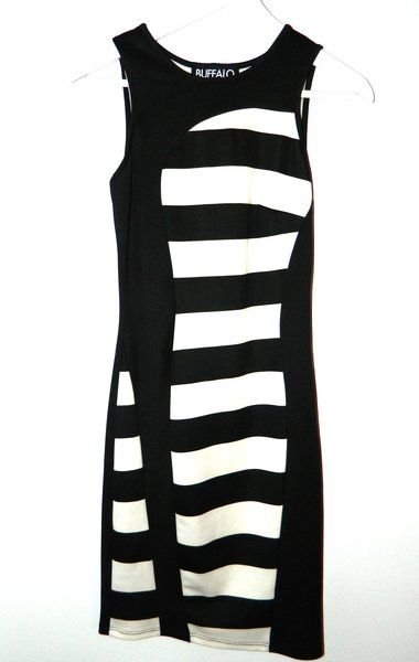 Buffalo David Bitton- Black and White Tank Dress | Hamptons Share and Shop