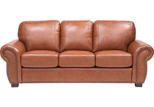 Balencia Light Brown Leather Sofa   Leather Sofas (Brown)