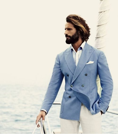 Pal Zileri - mens fashion. Love a light blue blazer. Nautical..yes ...