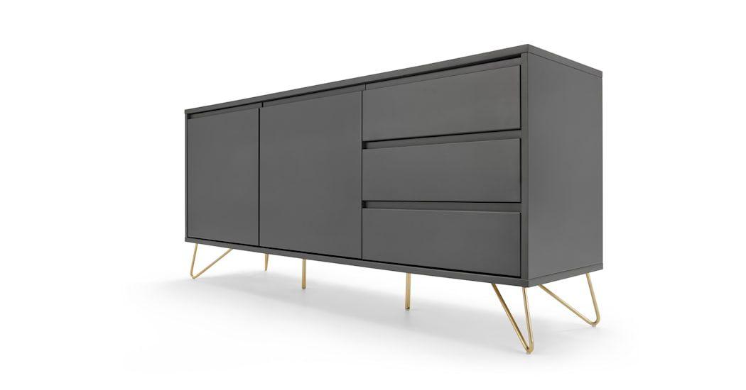 Elona Sideboard Anthrazit Und Messing Sideboard Storage Side