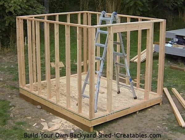 How To Build Shed Walls Building A Shed Frames On Wall Diy