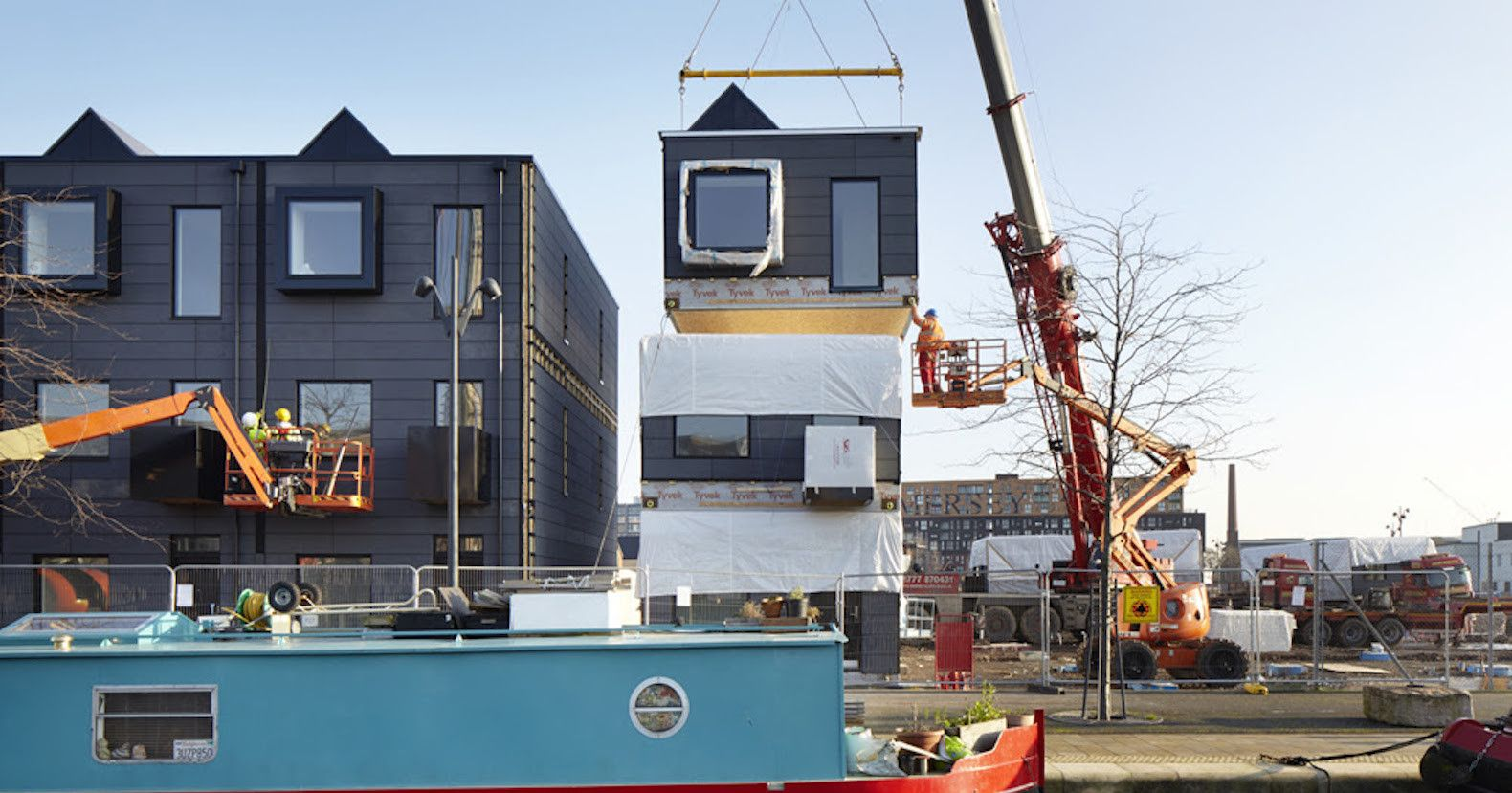 stackable prefab homes in london let you design the interior before rh pinterest com