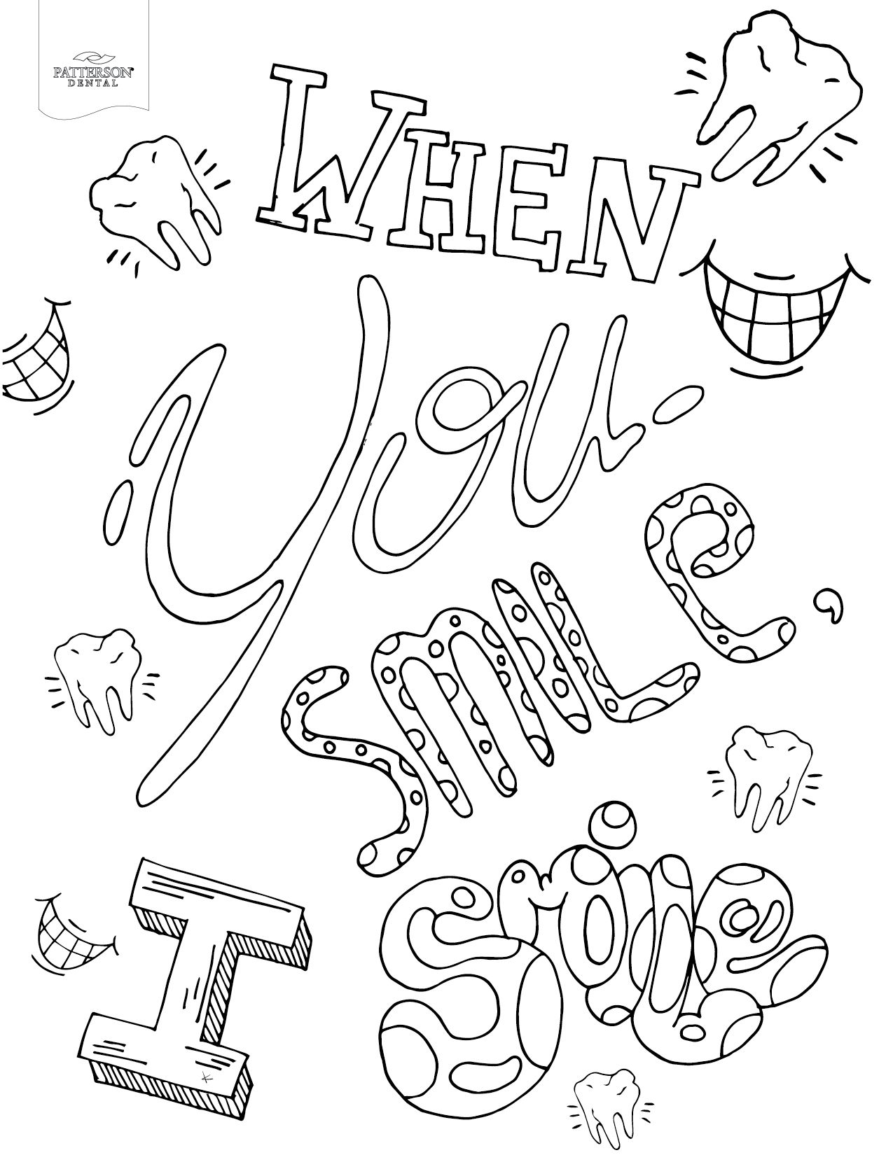 10 Toothy Adult Coloring Pages Printable Adult Coloring Book
