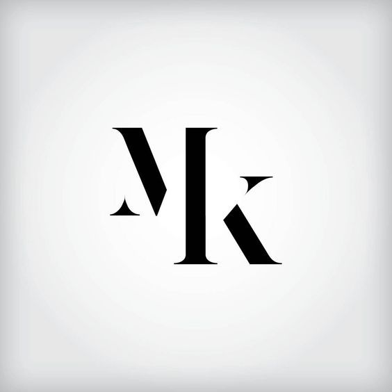 Mk Monogram Monogram Logo Design Typography Logo Self Branding