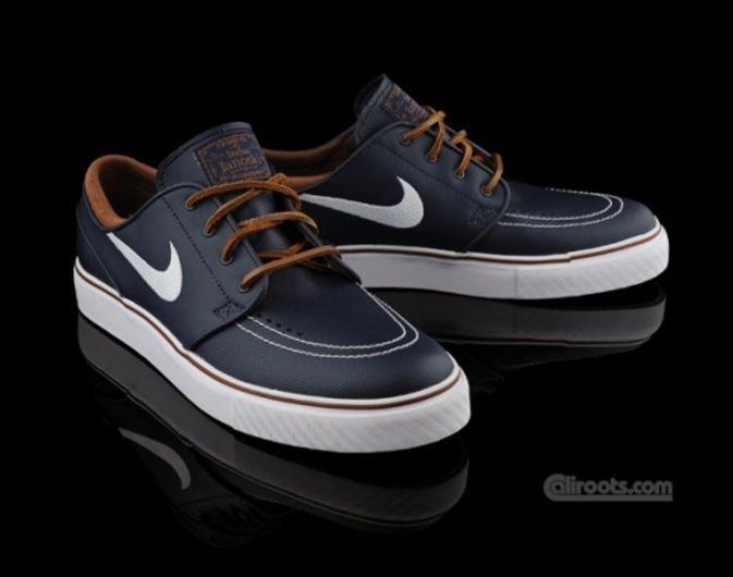 84c7779cef7624 Nike SB Zoom Stefan Janoski - Obsidian Leather
