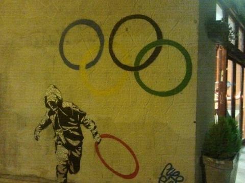 olympics murales