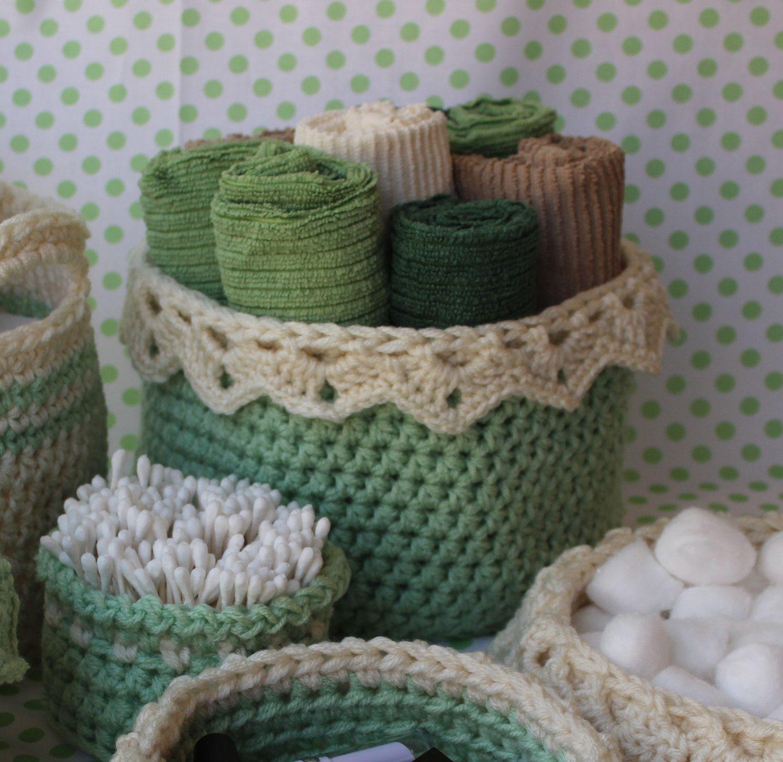 Lace Basket Pattern - Crochet Pattern for Large Basket with Drop ...