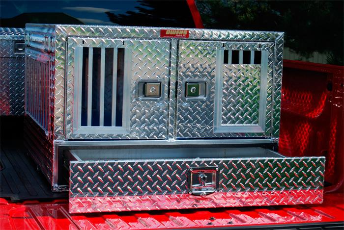 Owens Pro Hunter Aluminum Dog Box Double All Season w