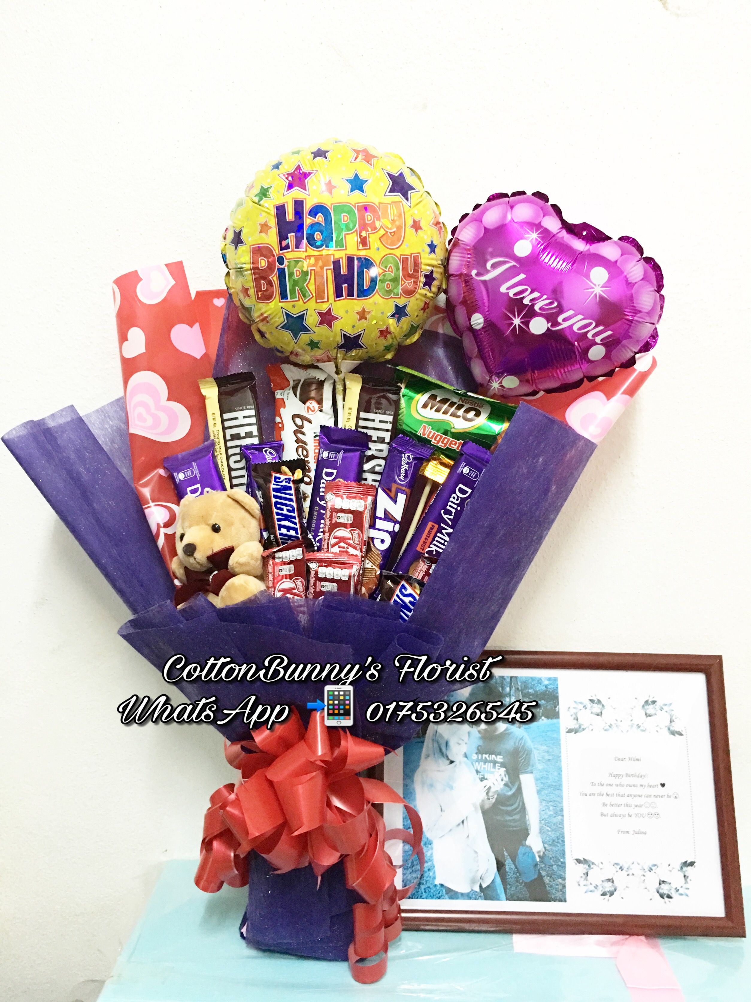 Chocolate bouquet kitkat ferrerorocher delivery penang