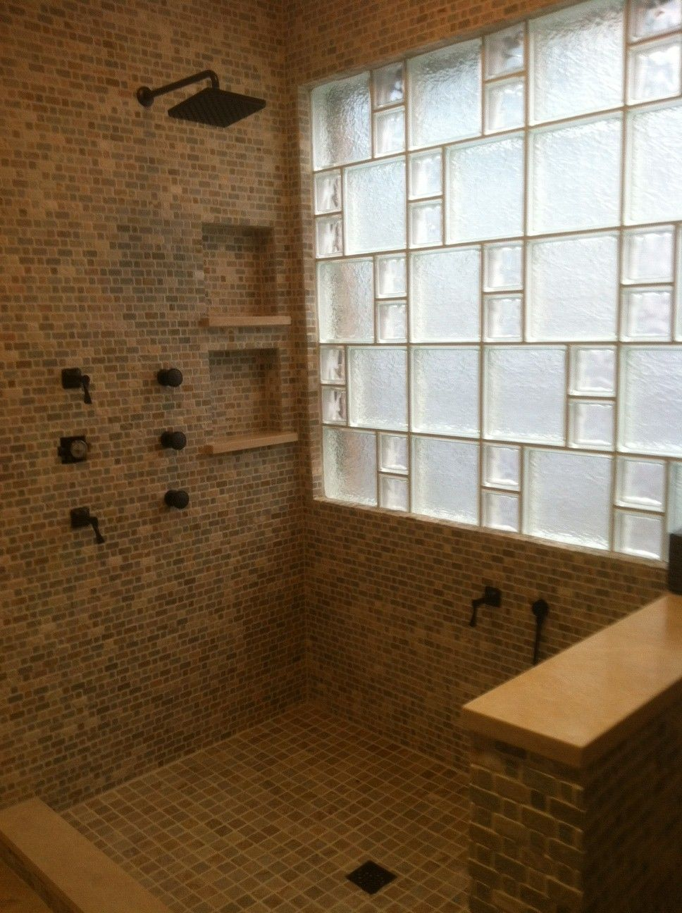 Glass block walls in bathrooms - Nothing Brightens Up Your Bathroom Like Glass Block And When You Mix The Glass