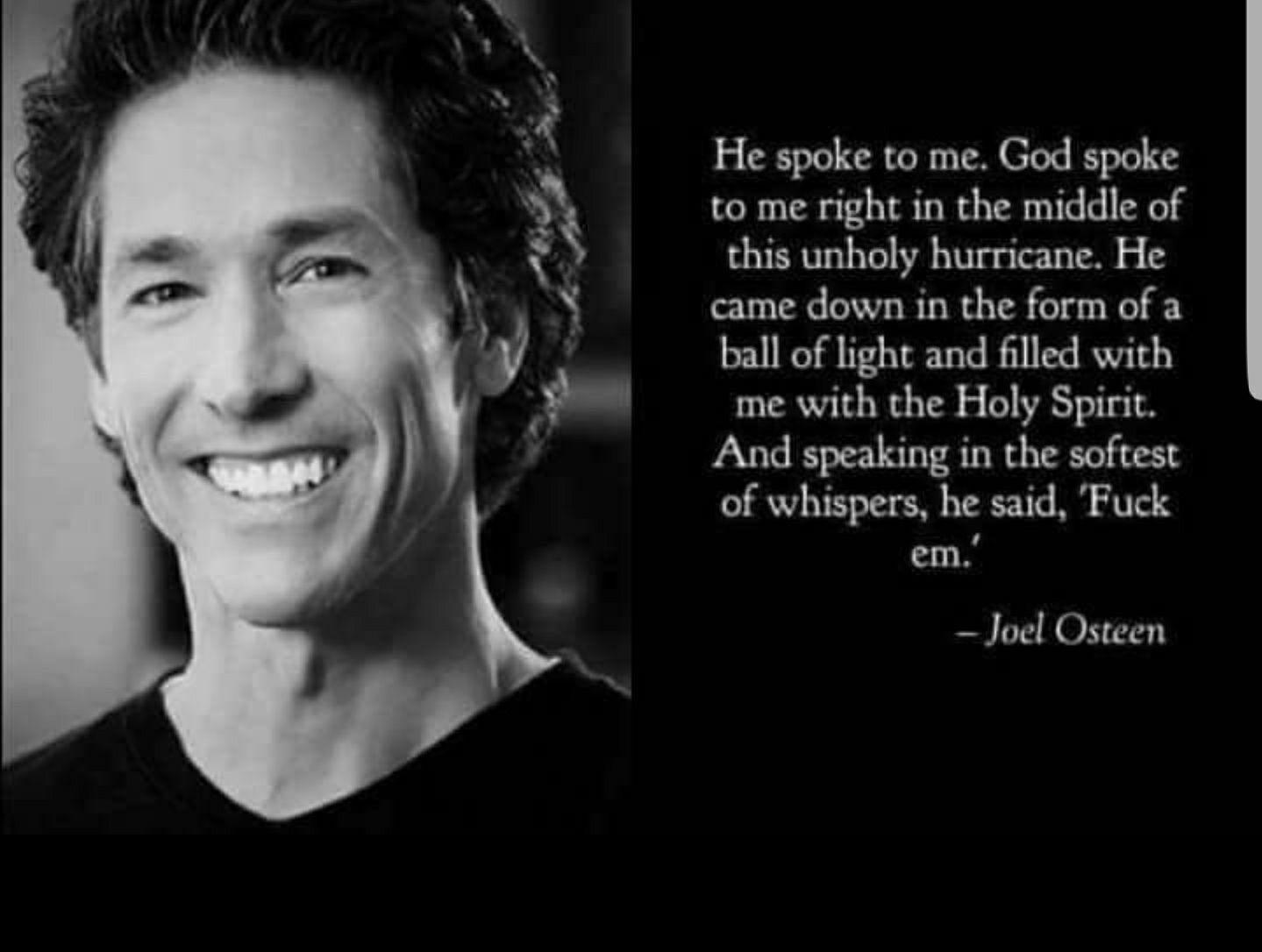 B4 U Judge Joel Osteen How About U Hear His Side Joel Osteen Quotes Funny Quotes Funny Texts