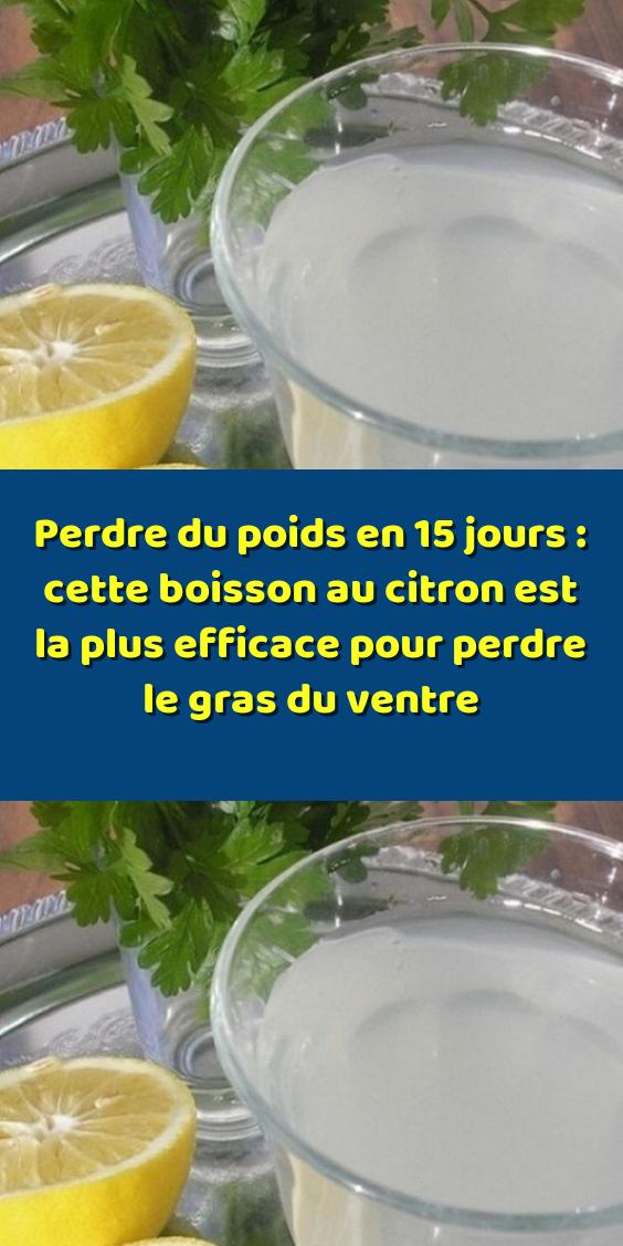 Perdre du poids en 15 jours : cette boisson au citron est